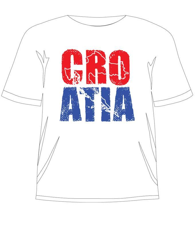 Croatia navijačka pamučna majica