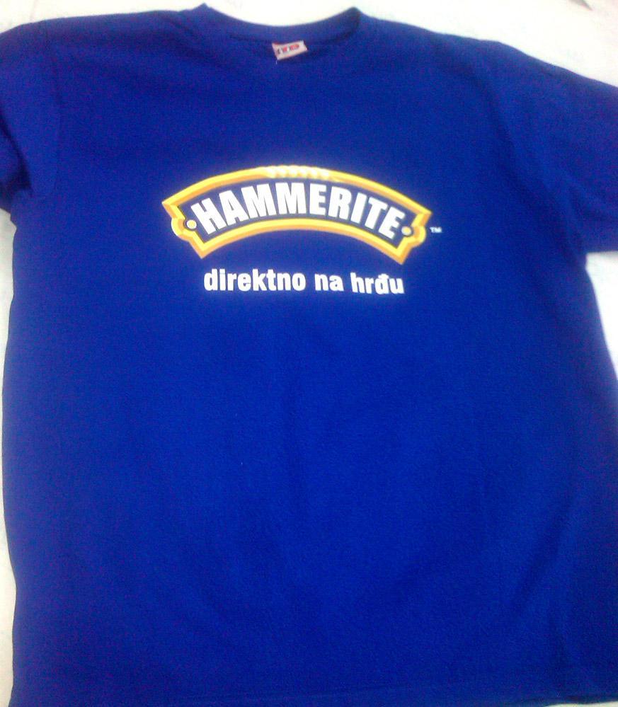 Direktno na hrđu Hammerite tshirt