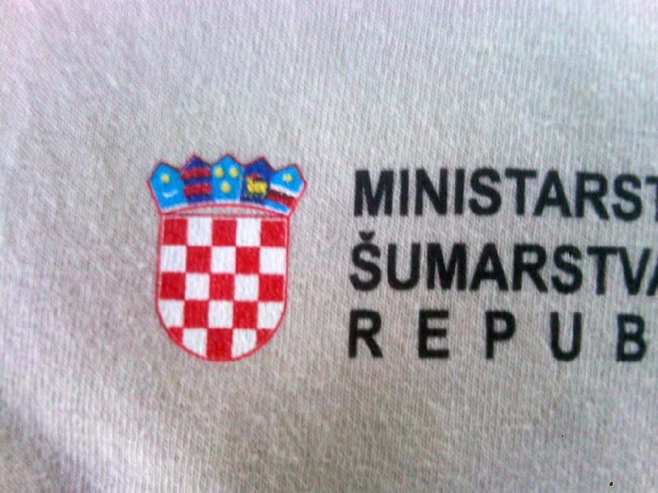 Grb republike Hrvatske otisnut na majici