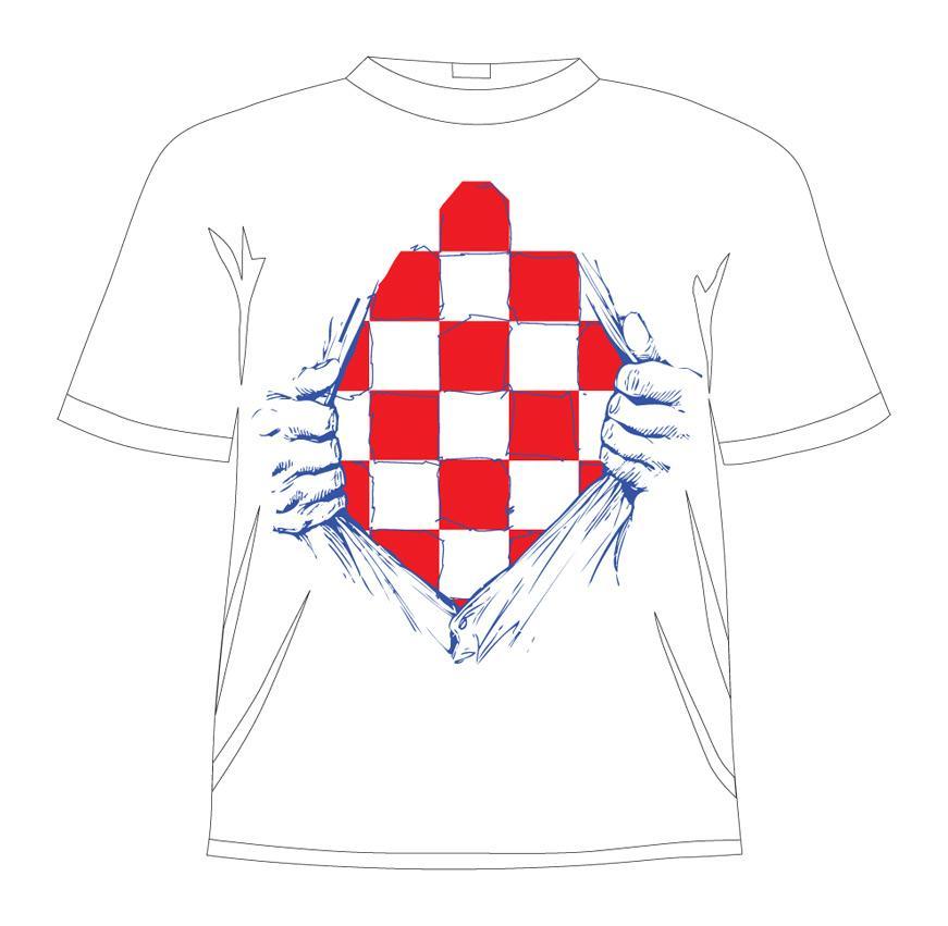 Hrvatska navijačka majica Hrvatska u srcu