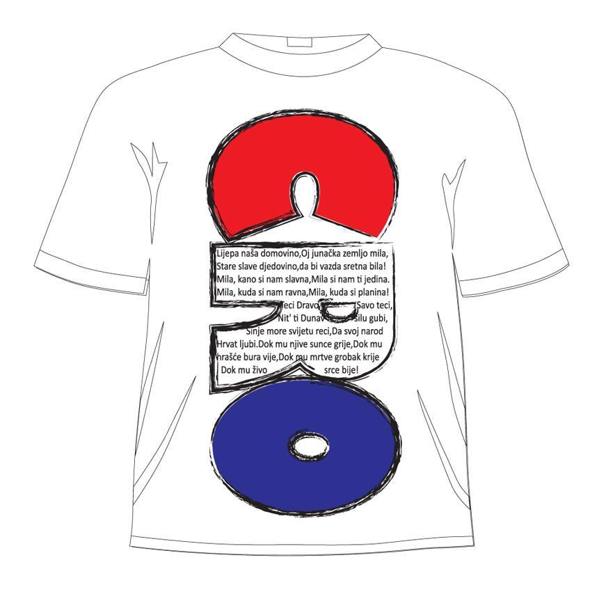 Majica hrvatska himna