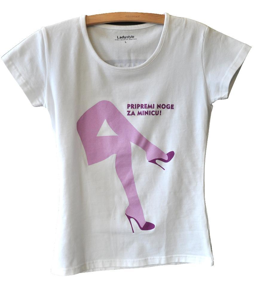 Pripremi noge za minicu - ženska majica